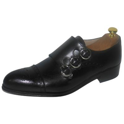 Chaussure derby cuir 3 boucles noir - Billy
