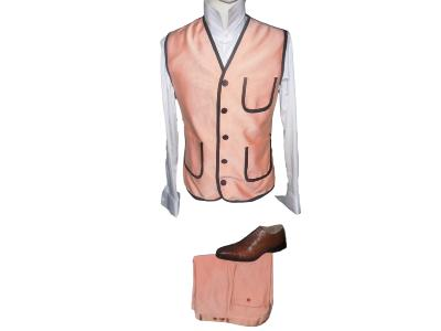 Ensemble gilet et pantalon orange - Viola