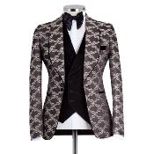 Costume homme avec broderies marron : Barcelona