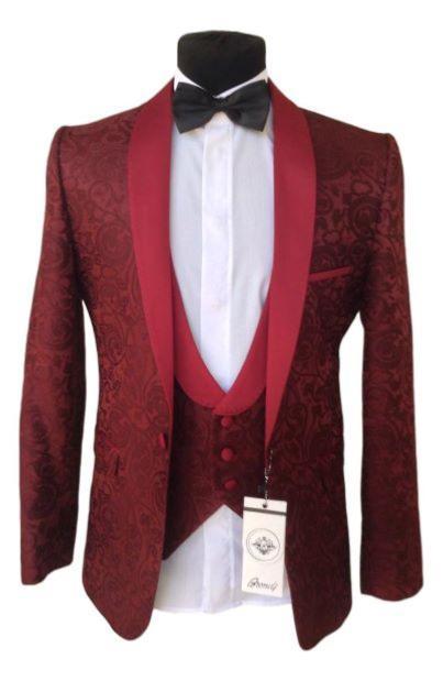 8625 5 De Réductionbordeaux Rouge Hommes Costumes Pour Mariage Slim Fit Marié Smoking Blazer Hommes Veste Hommes Hommes Hommes Hommes Costume