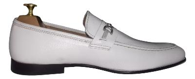Mocassin Italien homme - Cuir blanc